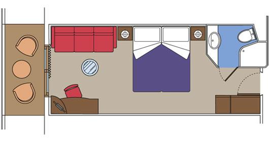 Каюта с балконом - план