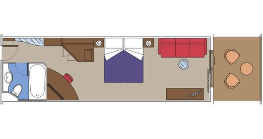 Сьют с балконом - план